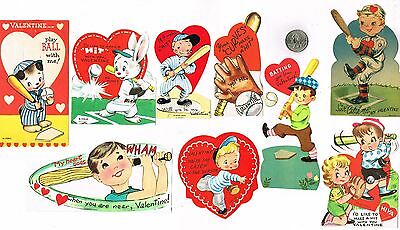 Valentine's Day Cards Baseball Lot #1 – 9 Cards