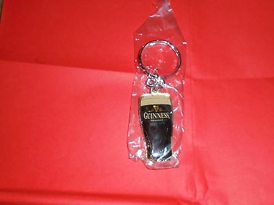 Guinness Key Ring. Guinness Pint Glass. Unused.