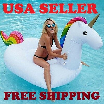 Magical Unicorn Giant 9 Feet Inflatable Float for the Pool (Free Shipping)
