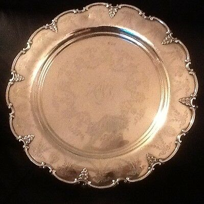 Antique George V Sterling Silver Salver -  793gms / 25.5 Troy oz