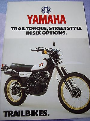 Yamaha Trial Bike sales brochure, DT250/ XT500 etc