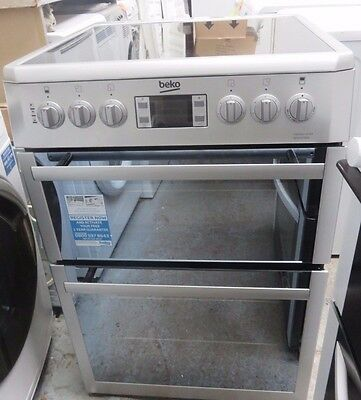 Beko BDVC667S Double Oven 60cm Electric Cooker with Programmable Timer - Silver