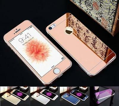 Front+Back Mirror Tempered Glass Screen Protector cover for iPhone X 5 6S 7 plus