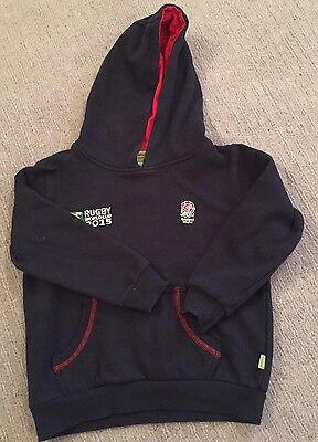 Girls England Rugby Hooded Top. Age 5/6 Years