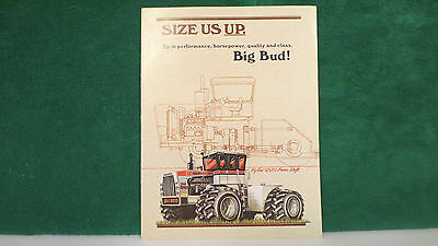 "Big Bud Tractor brochure, ""size us up"" Promo on 4WD's from 1977, very nice."