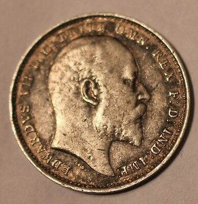 1904 Edward VII Maundy Silver Fourpence Coin
