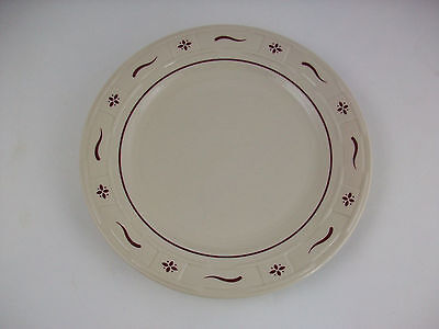"""Longaberger Pottery Woven Traditions Red 10"""" Dinner Plate~~USA~EUC!!"""