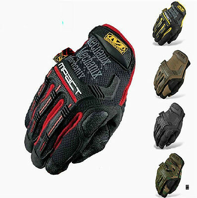 Top Quality !  NEW Mechanix Tactical M-PACT Gloves Black Combat Military Glove w