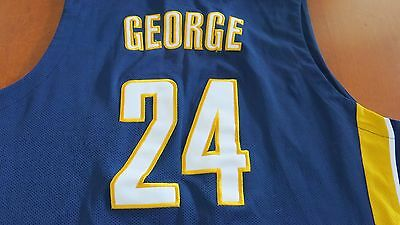 INDIANA PACERS NBL JERSEY, SIZE XL No 24 PAUL GEORGE - G/CONDITION