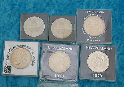Bulk collection of mixed crown size coins,  x 6