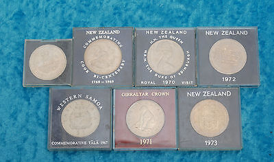 Bulk collection of mixed crown size coins,  x 7