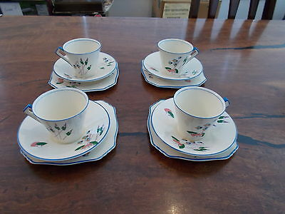ROYAL WINTON ,CARNIVALE ,CUPS, SAUCERS +BB PLATES x 4