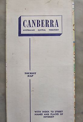 Old CANBERRA Tourist Map, possibly 1950s, pre Lake Burley Griffin.