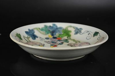 Supeb Antique Chinese Qing Porcelain Hand painted *Squirrel&grape* plate