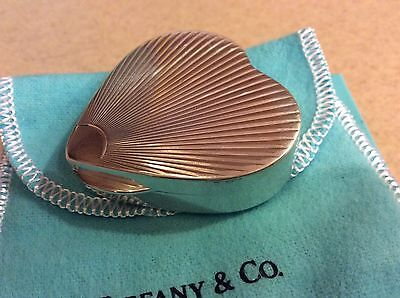 XL Vintage Tiffany & Co Groove Heart Sterling 925 Silver Pill Trinket Box Large