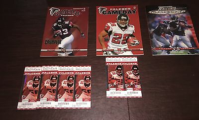 Atrlanta Falcons Lot Of 3-Gameday Official Programs Of The Nfl