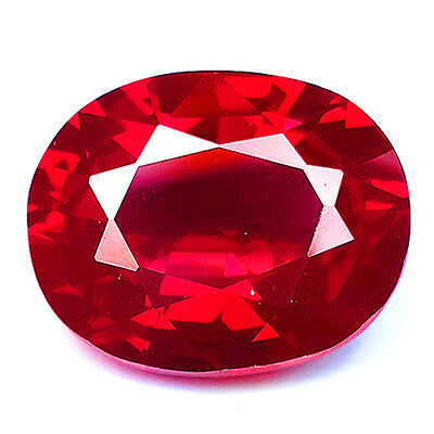 19.20 Ct Awesome Red Ruby Oval Shape Lab Created Corundum