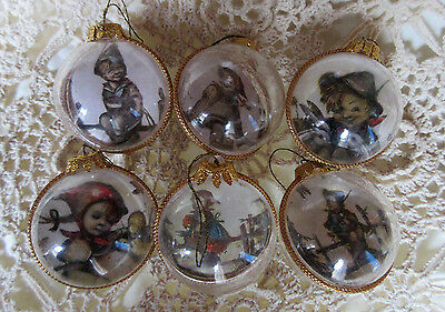 Lot of 6 Vintage Plastic Christmas Ornaments Made in Germany 1960's SALE