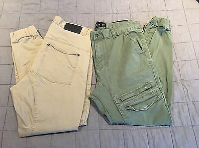 2 X Men's KSCY Melbourne Cargo Pants. Green And Brown. Size 36