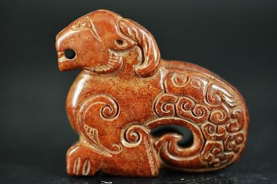 Excellent Chinese old jade carved sheep statue  JP167