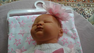 """Reborn Baby Girl Lucy 20"""" In Hand Knitted Brand New Outfit As New"""