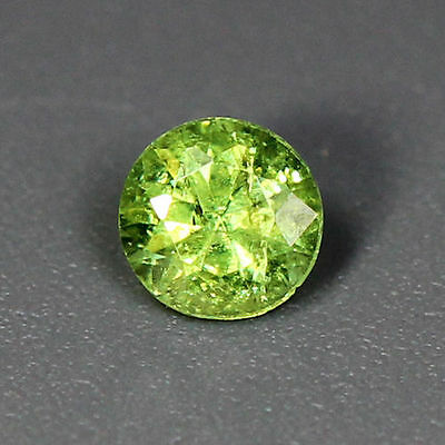 0.18 Cts_Wow Amazing Hot Sale Round Cut_100 % Natural Russian Demantoid Garnet