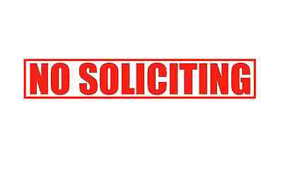 No Soliciting Sticker Door Sign Window Vinyl Decal Removable