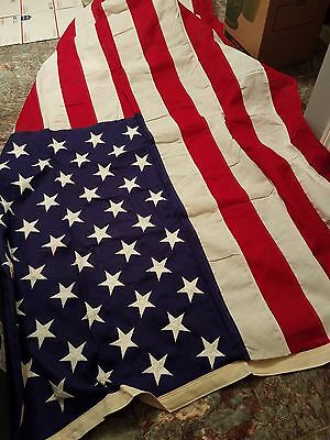 AMERICAN FLAG Large 5' x 9' made in U.S.A. Veterans Internment Casket Flag