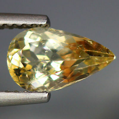 1.30 Cts_Wow Unbelivable Brazilian Gemstone_100 % Natural Heliodore Yellow Beryl
