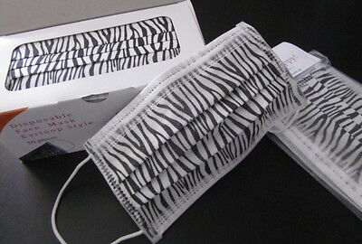 ***3 Ply Disposable Zebra Style Medical Face Masks-10 Pack***