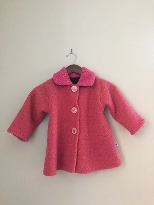 Corky & Company Girls Pink Collared Coat  Jacket Style#145 Size 2T