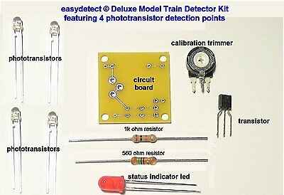 Deluxe N Scale 4 Point Model Train Detector Kit For Crossing Flasher Activation