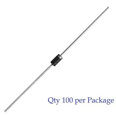 1N4001 - 1A 50V Rectifier Diode - MIC Brand - 100pcs (100 Pieces)