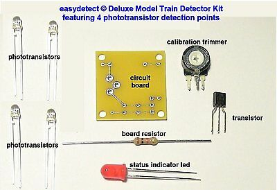 Deluxe Ho Scale 4 Point Model Train Detector Kit For Crossing Signal Activation