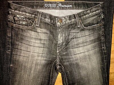 Women's Guess Premium Distressed Jeans Size 30 (Measured 33X34) Dark Gray