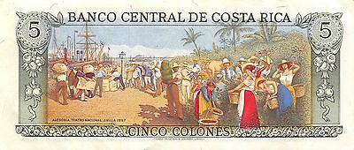 Costa Rica  5 Colones  4.10.1989  Series D circulated Banknote NS2R