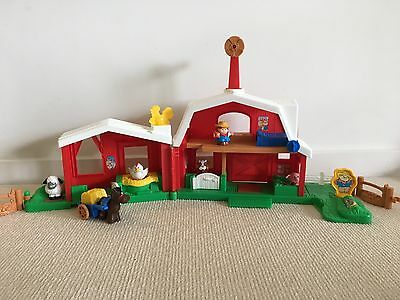 Fisher Price Little People Animal Farm and two extra sound stables