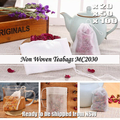 20/50/100 tea bag Heat sealing filter paper clean Loose bag String Teabag Herb