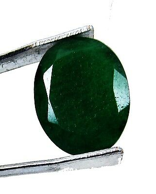 4.45 Ct. Natural Certified Translucent Oval Colombian Emerald Gemstone. AQ 635