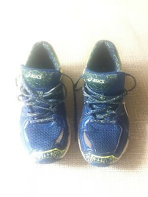 Mens ASICS  Running Shoes Size US 7   EURO 40 Blue/Lime