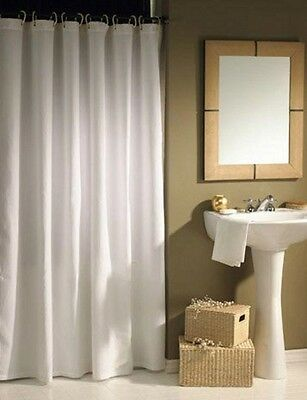 Quality Xl Large Extra Long Wide White Polyester Shower Curtain 240 220 200 190
