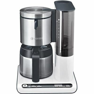 BOSCH Cafetiere isotherme TKA8651 Blanc/Inox - 8 tasses