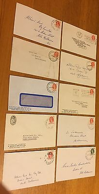 VICTORIA 1965/66: 10 small commercial covers