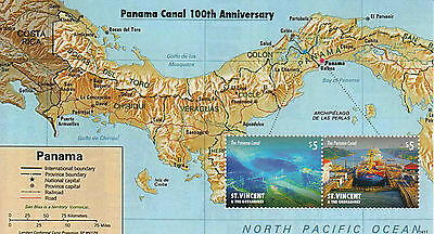 St Vincent & The Grenadines 2014 MNH Panama Canal 100th Anniv 2v S/S Stamps