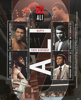 St Vincent & Grenadines 2011 MNH Muhammad Ali 70th Bday 4v M/S II Boxing Stamps