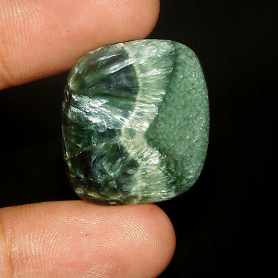 22Cts Fabulous Power 100% Natural  Serphinite 27X23 Cabochon