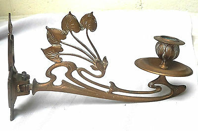 Vintage Brass Piano Sconce Candle Holder