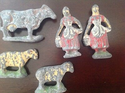 Rare Antique / Vintage Lead Farm Figures / Toys