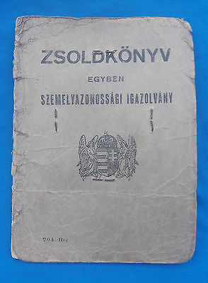 WWII Hungarian Soldbuch military ID 1945