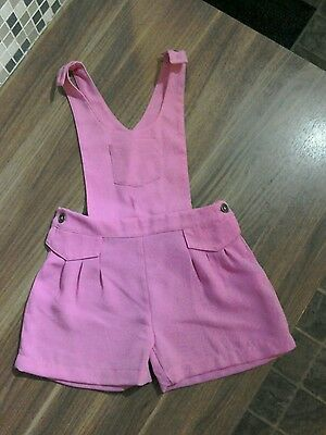 Girls Pink M&S Dungarees/Playsuit 3-4 years